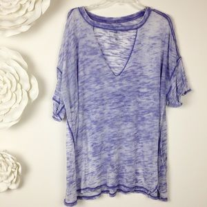We The Free People Jordan Cut Out Burnout Tee Boho